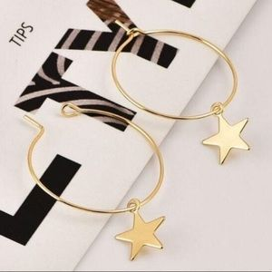 Starhoop earrings gold